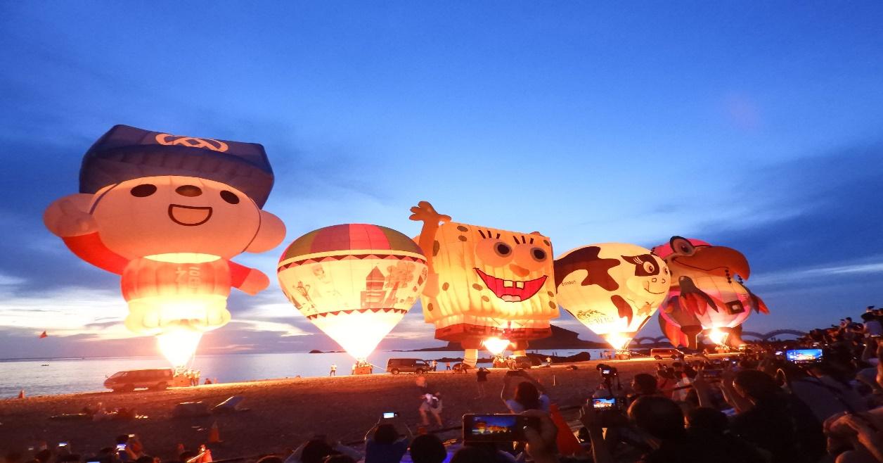 鹿野高台熱氣球